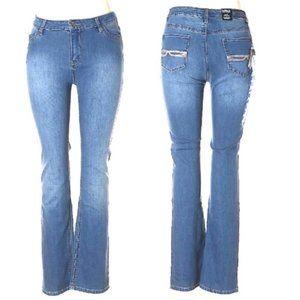 NEW David Bitton Misha Lightwash Straight Leg Jean